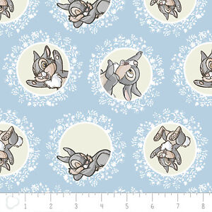 Disney Bambi Thumper in Blue Camelot 100% cotton fabric by the yard