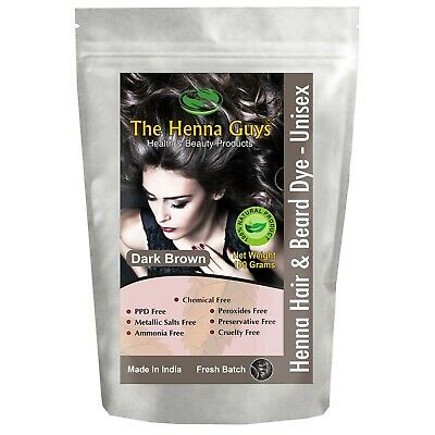 1 Pack of Dark Brown Henna Hair Color/Dye - 150 Grams - Best Henna for Hair,