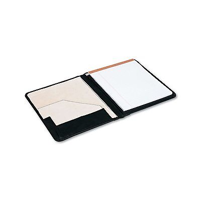 Pad Holder Suede-lined Leather Wwriting Pad Inside Flap Pocket Black