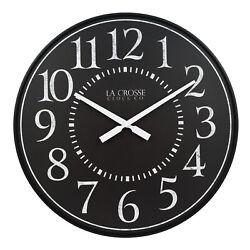 BBB81441 La Crosse Clock Co. 21 Monroe Plastic Open Face Analog Wall Clock
