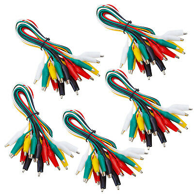 Wgge Wg-026 50 Pieces And 5 Colors Test Lead Set Alligator Clips 20.5 Inches