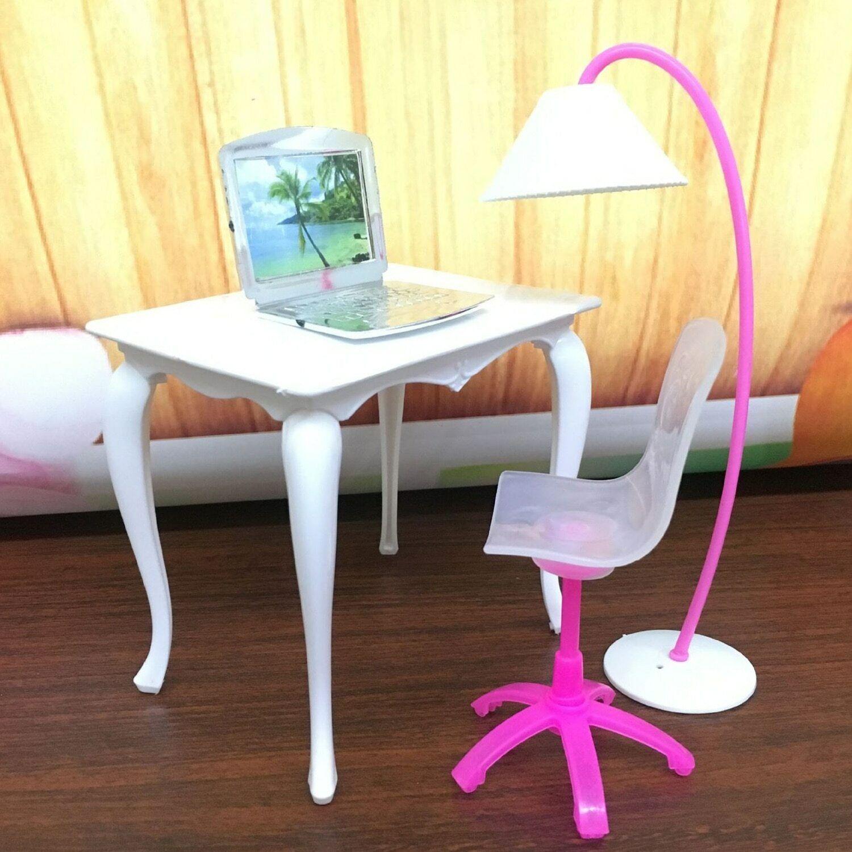 Babies Dollhouse Furniture Blythe House Desk Lamp Laptop Cha