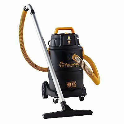 8 gal. HEPA Industrial Wet/Dry Vac with 2-Stage (2 Stage Vacs)
