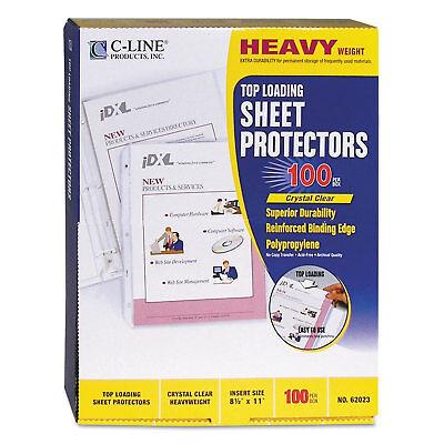 C-line Heavyweight Polypropylene Sheet Protector Clear 2 11 X 8 12 62023
