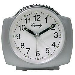 27006 Equity by La Crosse Battery Powered Analog Quartz Alarm Clock - Silver