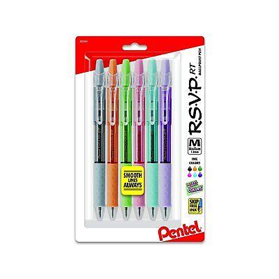 Rsvp Rt Pastel Barrel Retractable Ballpoint Pen 1.0mm Med Assorted Ink ...