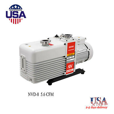 US NICHWELL NVD-8 5.6 cfm Corrosion-Resist Commercial Grade 2-Stage Vacuum Pump