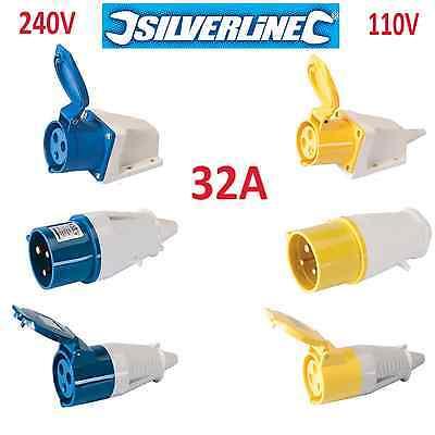 32A 32amp Stecker, Buchse, Montable Buchse, 110V 240V Blau Gelb Wasserfest