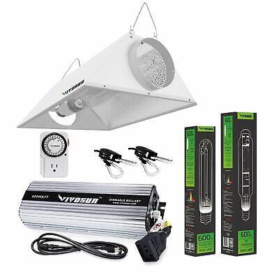 VIVOSUN 400w 600w 1000w Watt Grow Light Kit HPS MH Air Cooled Hood Set for Plant 400 Watt Mh Cool