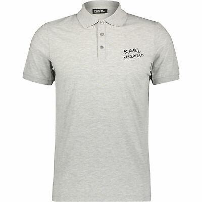KARL LAGERFELD Designer Men's Grey Logo Polo Shirt Size: S,M, L, XL