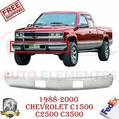 Front Bumper Chrome Steel For 1988-2000 Chevrolet GMC Pickup C/K Series