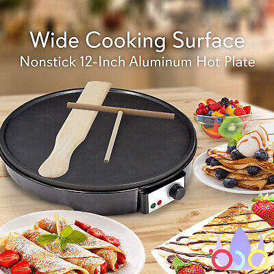 Non-stick Crepe And Pancake Maker With Wooden Spatula Spreader