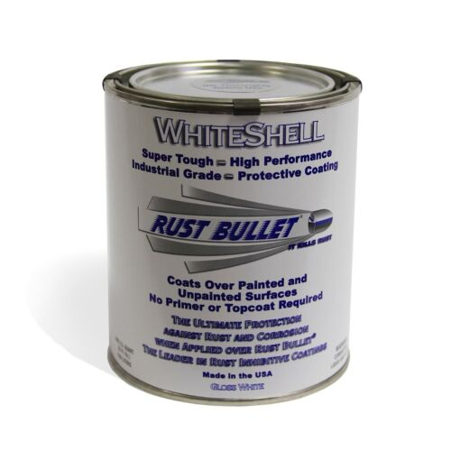 Rust Bullet WSQ WhiteShell Rust Preventative and Protective Coating Paint 1 Q...