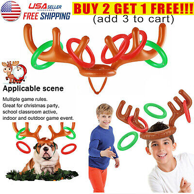 Holiday Party Games For Adults (Inflatable Reindeer Hat Antler Ring Birthday Party Holiday Game For Kids)