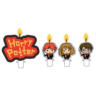 4 Harry Potter Birthday Cake Candles Toppers Harry Hermione Ron Party Decoration