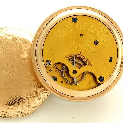 New england watch co. rugby modèle poche montre avec duplex mouvement ca1900
