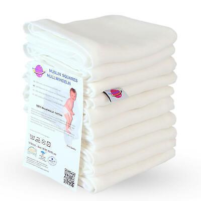 Mullwindeln 60 80x80 weiß Spucktücher Stoffwindeln Baumwolle Mehrweg Einlagen