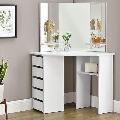 Schminktisch Frisiertisch Kosmetiktisch Kommode Weiß Modern Spiegel ArtLife®