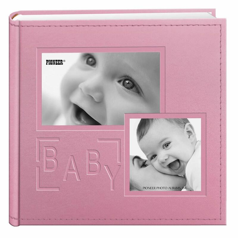 Pioneer Photo Album 4x6 holds 200 Pictures - Baby - Pink