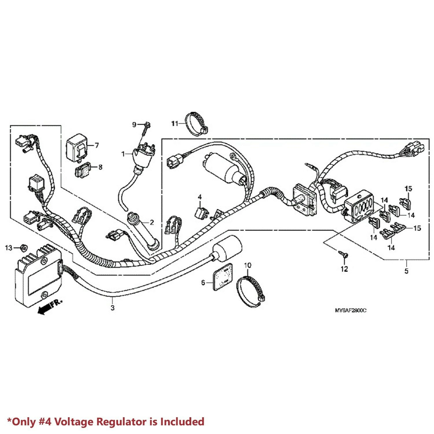 2007 honda xr650l wiring harness diagram