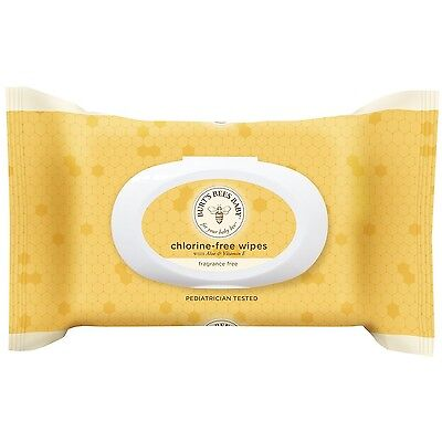 Burt's Bees Baby Chlorine-Free Wipes 72 Count (Pack of 6) (Packaging May Vary)
