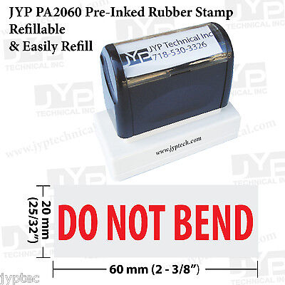 New Jyp Pa2060 Pre-inked Rubber Stamp With Do Not Bend