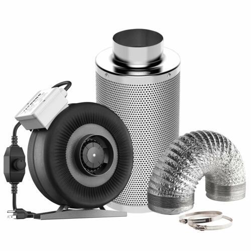 "VIVOSUN 4"" 6"" 8"" inch Inline Fan w/ Controller Air Carbon Fi"
