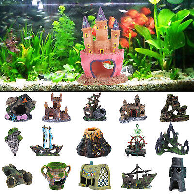 Aquarium Dekoration Burg Steingarten Stein Aquarium Aquarium Ornament (Aquarium Dekoration Garten)