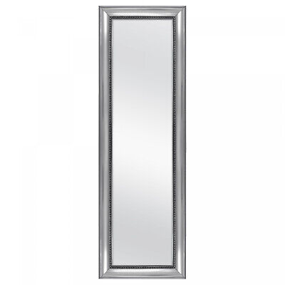 Full Length Mirror Hang on Door Body Bedroom Floor Silver Fr