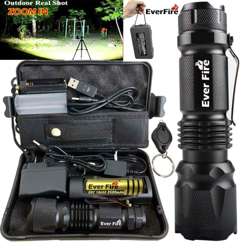 Powerful 250000LM Zoom X800 Tactical Military T6 LED Flashli