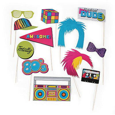 12 Awesome 80s Photo BOOTH stick Props BIRTHDAY PARTY rubic cube ghetto - Photo Booth Wholesale