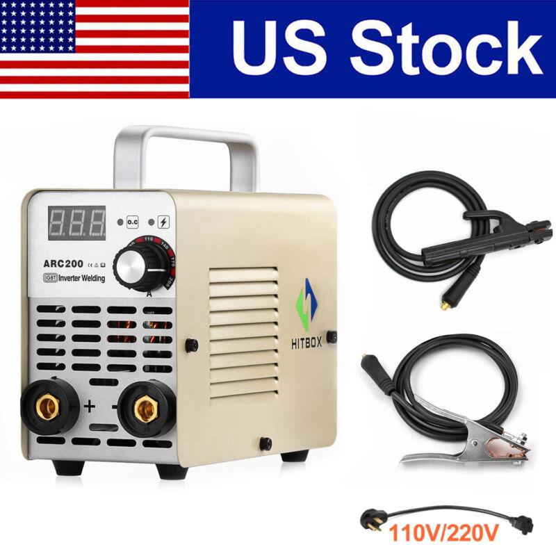 200A ARC Welder Inverter 110/220V Dual Volt IGBT MMA ARC Stick Welding Machine