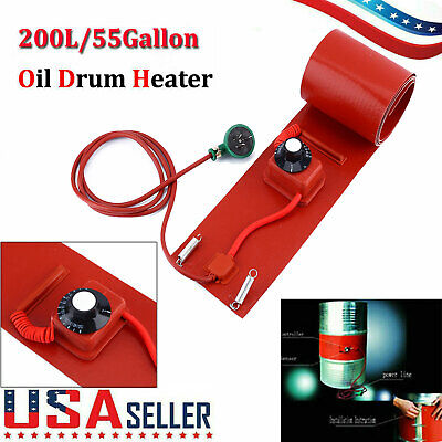200l55gallon Silicon Rubber Band Heater 1000w 110v For Metal Oil Drum Heating