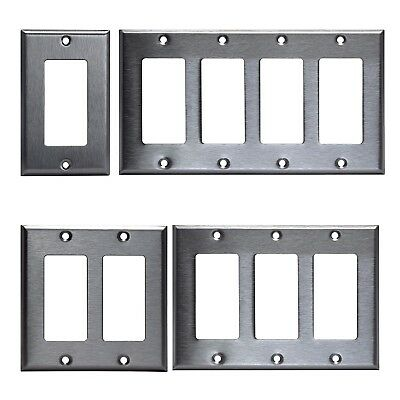 Decora Style Wall - GFI DECORA STYLE STAINLESS STEEL GFCI WALL COVER PLATE 1 2 3 4 GANG