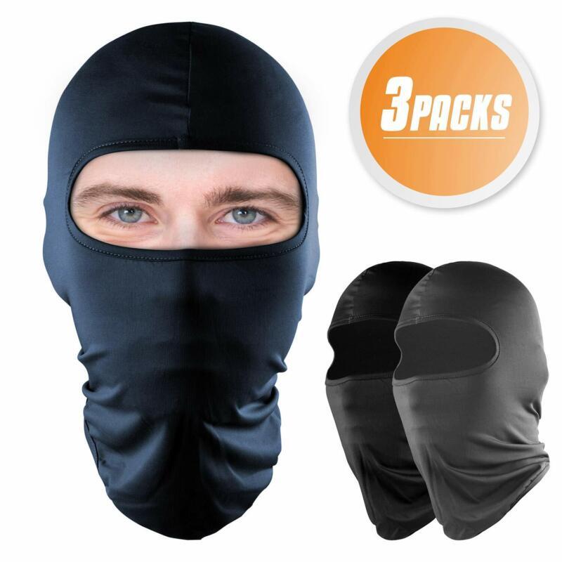3 Packs Balaclava Full Face Mask UV Protection Windproof Sun Hood for Men Women