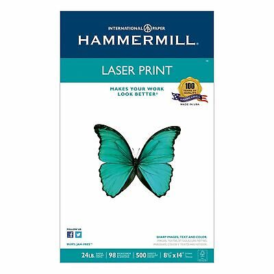 Hammermill Legal Laser Print Paper 24lb 98 Bright 8-12 X 14 - Ream 500 Sheets