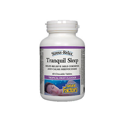 - Natural Factors Stress-Relax Tranquil Sleep, 60 Chewable Tablets