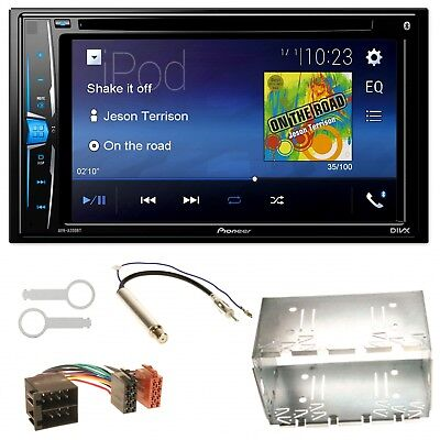 Pioneer AVH-A200BT USB MP3 Bluetooth Einbauset für Golf 4 Passat Polo Ibiza 6L ()
