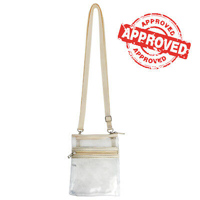 Small Transparent Zipper Purse Clear Handbag Shoulder Crossbody Bag NFL Concert