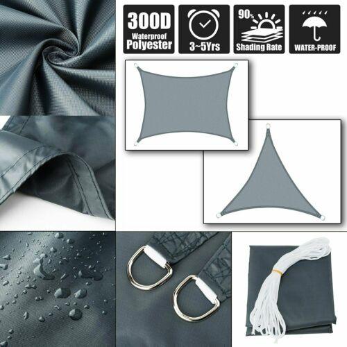 LUXUS Sonnensegel Extraklasse Sonnen-Regenschutz Wasserdicht WindSchutz UVSchutz
