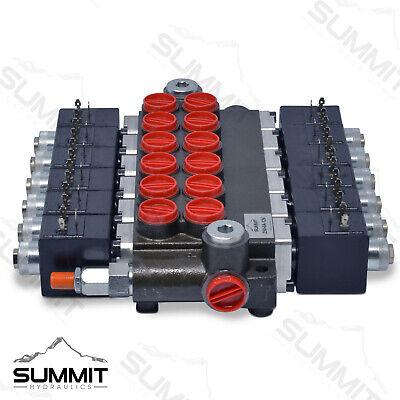 Hydraulic Monoblock Solenoid Directional Control Valve 6 Spool 13 Gpm 12v Dc