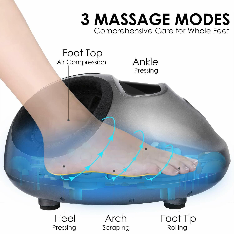 ACEVIVI Electric Shiatsu Foot Massager w/Heat Kneading Rolli