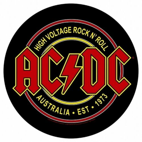 Large AC/DC High Voltage Round Woven Sew On Battle Jacket Back Patch