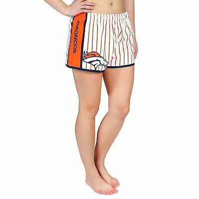 Forever Collectibles NFL Women's Denver Broncos Pinstripe Shorts Denver Broncos Womens Short