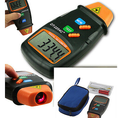 Lcd Digital Tachometer Laser Photo Non Contact Rpm Tach Meter Motor Speed Gauge