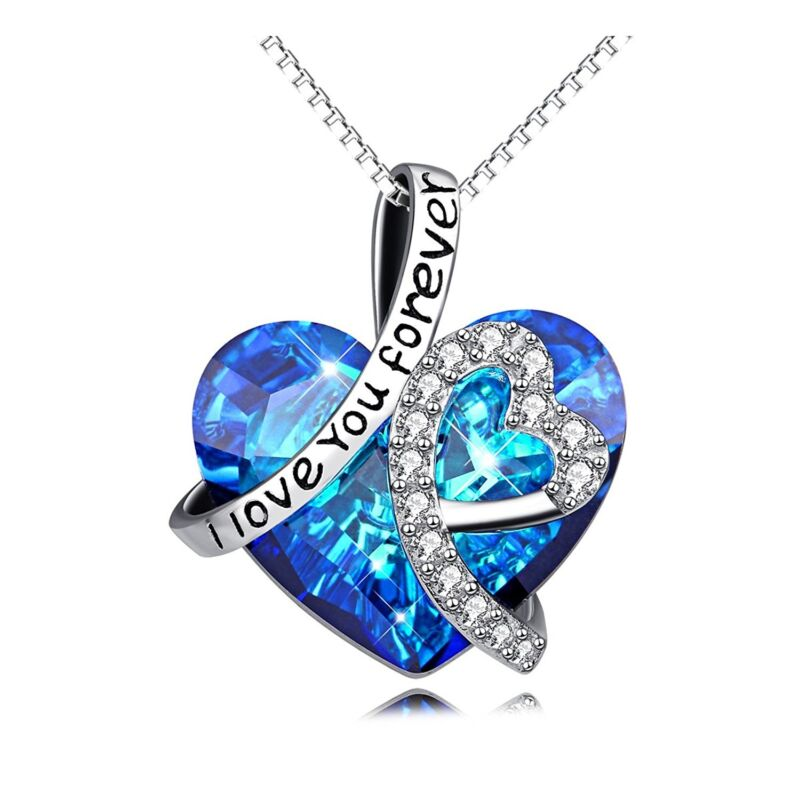 I LOVE YOU CRYSTALS NECKLACE