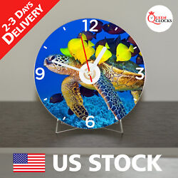 NEW Sea Turtle CD Clock Wall Shell Hawaiian Gift Turtles Decor Table Modern Art
