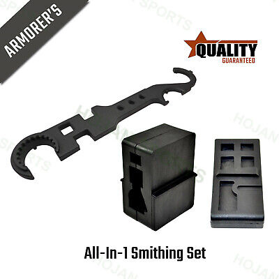 USA All-in-one Tools Set Lower + Upper Vise Block + Armorer's Combo Wrench - All In One Receiver