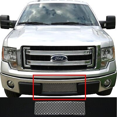 CCG MESH GRILL INSERT FOR 09-14 FORD F-150 LOWER BUMPER GRILLE PERF GT SILVER