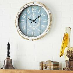 Vintage wall clock 17 Metal rope glass Retro wall clock round Wall Home Decor